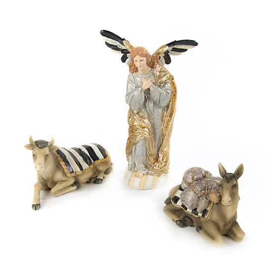 Silver Lining Nativity - Angel & Animal Set