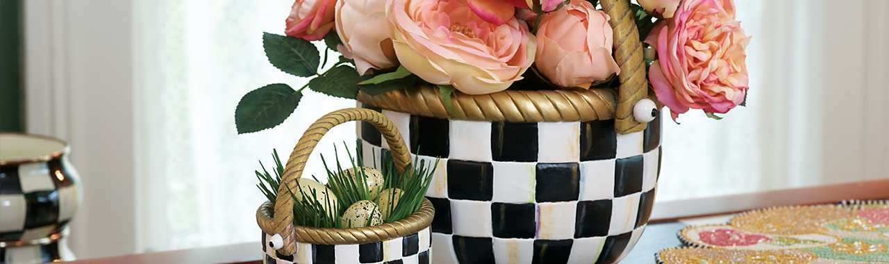 Courtly Check Basket - Large Banner Image