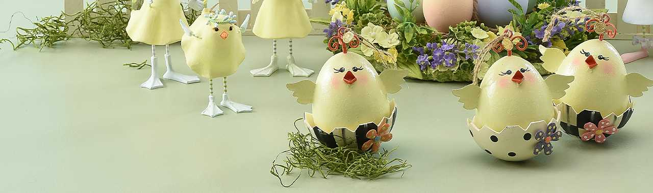 Chick Ornaments - Set of 3 Banner Image