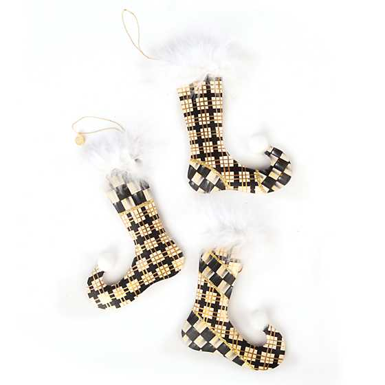 Golden Hour Stockings Ornaments - Set of 3