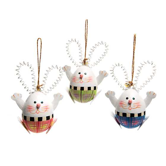 Hello Rabbit Ornaments - Set of 3