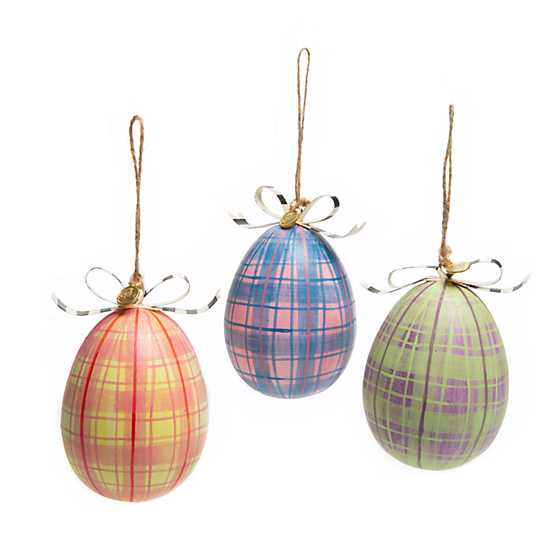 Chicken Palace Egg Ornaments - Set of 3