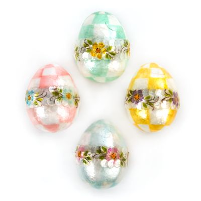 Pastel Floral Eggs - Medium - Set of 4