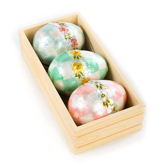 Pastel Floral Eggs - Large - Set of 3 image three