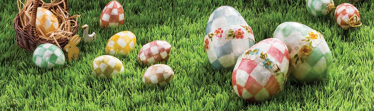 Pastel Floral Eggs - Large - Set of 3 Banner Image