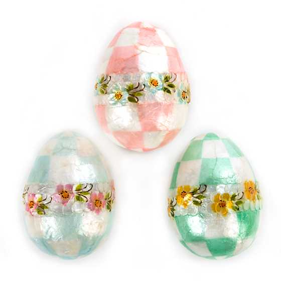 Pastel Floral Eggs - Large - Set of 3 image one