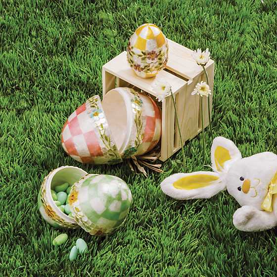 Pastel Floral Nesting Eggs - Set of 3 image two