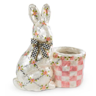 Floral Rabbit with Basket