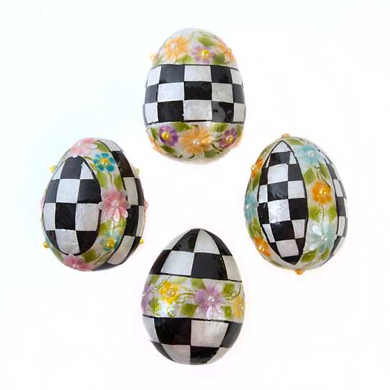 Painted Posie Eggs - Small - Set of 4