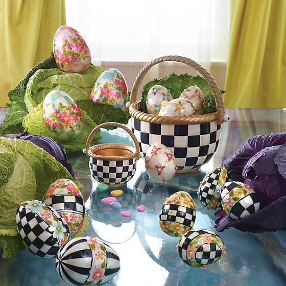 Painted Posie Eggs - Large - Set of 3 image four