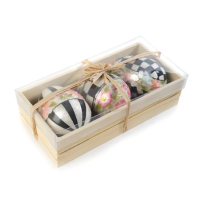 Painted Posie Eggs - Large - Set of 3
