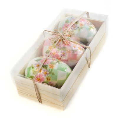 Honeymoon Check Eggs - Set of 3