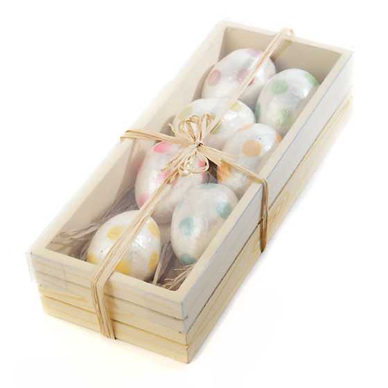 Jelly Bean Egg Ornaments - Set of 7