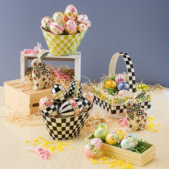 Pastel Check Egg Arrangement image two