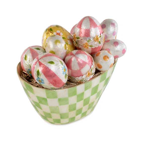 Pastel Check Egg Arrangement