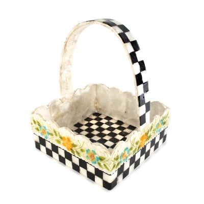 Picket Fence Basket - Black