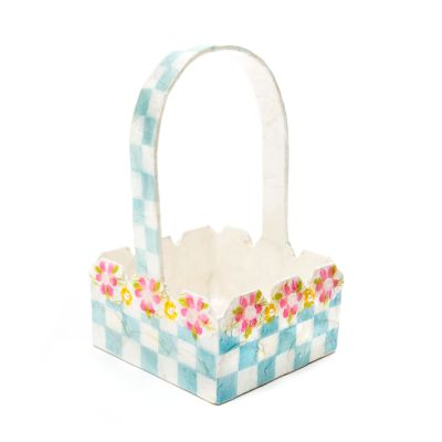 Picket Fence Basket - Blue