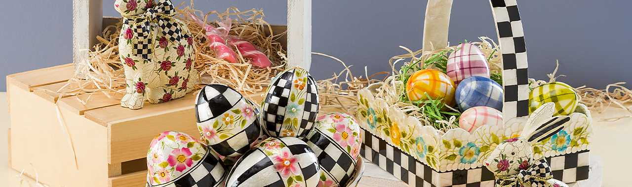 Spring Has Sprung Tartan Eggs - Set of 5 Banner Image