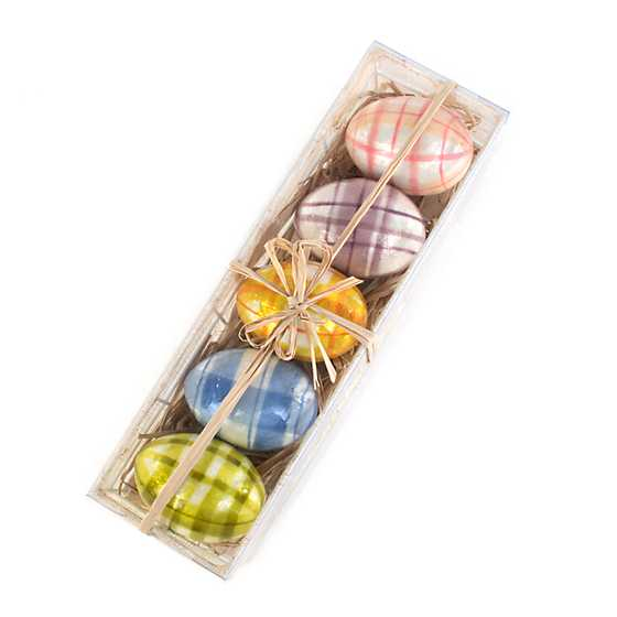 Spring Has Sprung Tartan Eggs - Set of 5