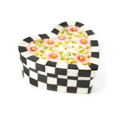 Check Flower Heart Box