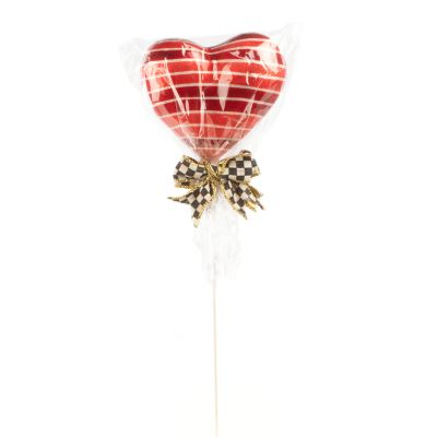 Heart Lollipop Pick - Stripe