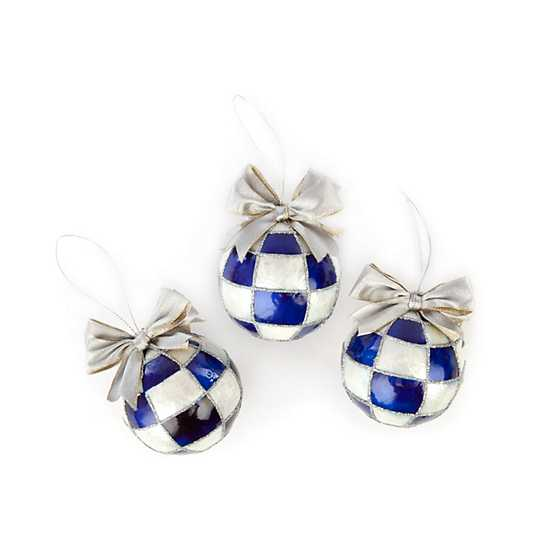 Royal Ball Ornaments - Small - Set of 3 image two