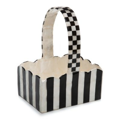 Striped Capiz Basket
