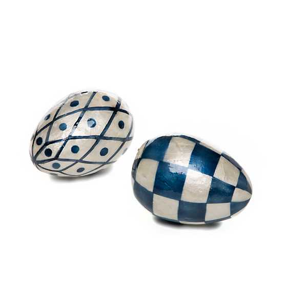 Country Stroll Capiz Eggs - Set of 2
