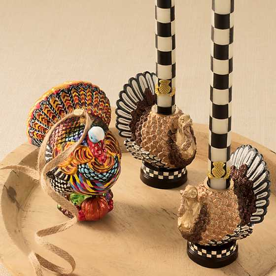 Autumn Harvest Turkey Candlestick image two