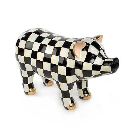 Courtly Check Pig Figurine image one