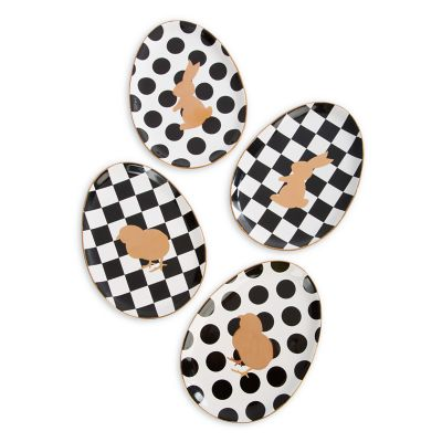 Easter Egg Plates - Set of 4