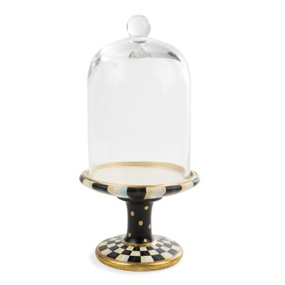 Courtly Check Pedestal with Cloche