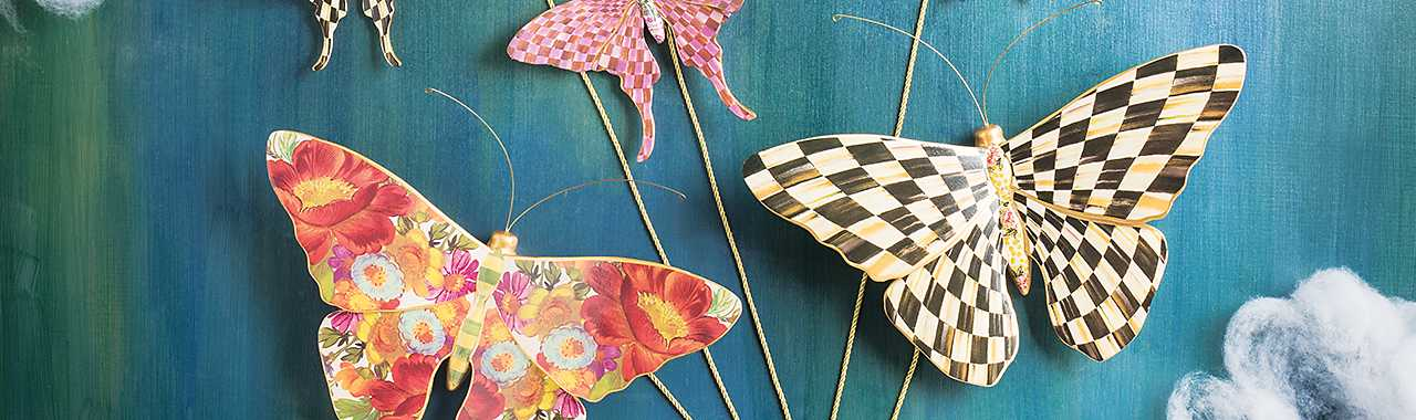 Courtly Check Butterfly Banner Image