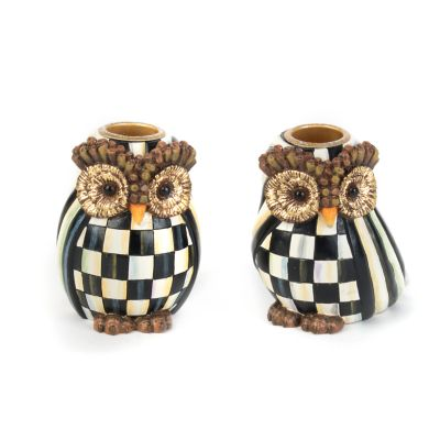 Owl Candlesticks - Set of 2