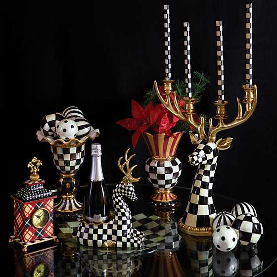 Courtly Check Deer Head Candelabra image two