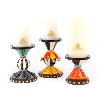 Autumn Spice Pillar Candle Holders - Set of 3