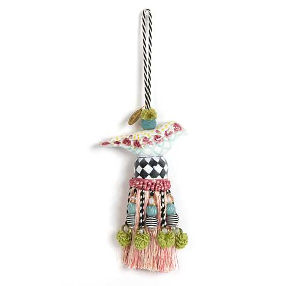 Ceramic Bird Tassel - Rose image one
