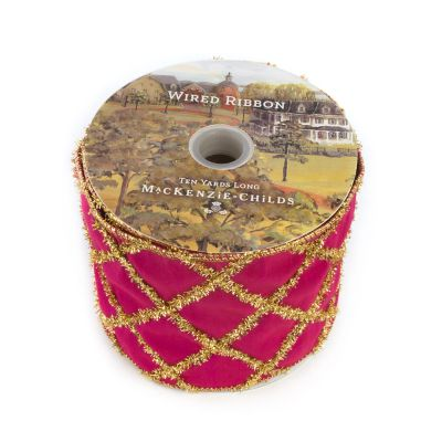 "Paradise Lattice 4"" Ribbon - Fuschia"