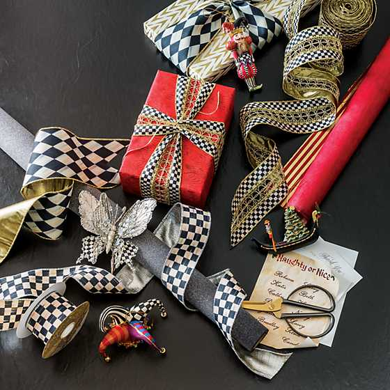 "Courtly Check 2"" Ribbon - Silver Lining image five"