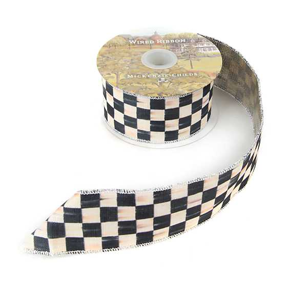 "Courtly Check 2"" Ribbon - Silver Lining image three"