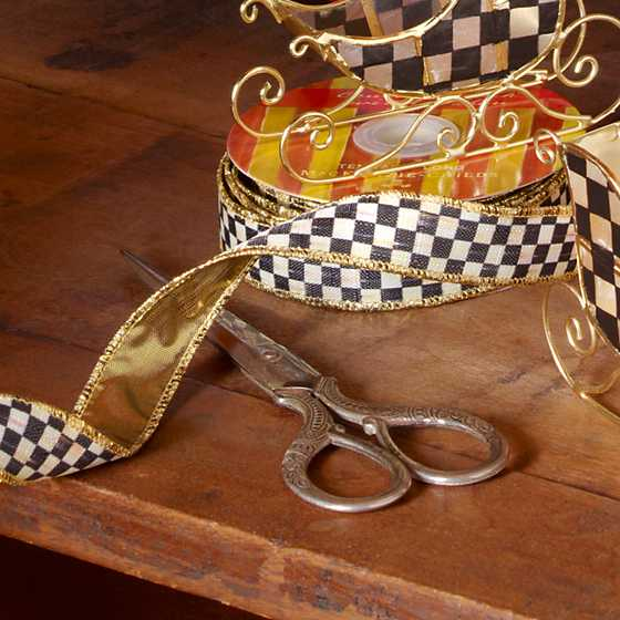 "Courtly Check 1"" Ribbon image two"