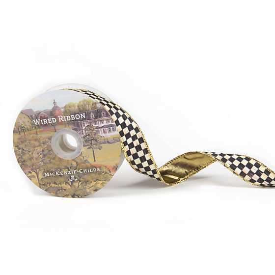 "Courtly Check 1"" Ribbon image three"