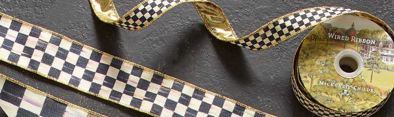 "Courtly Check 1"" Ribbon Banner Image"