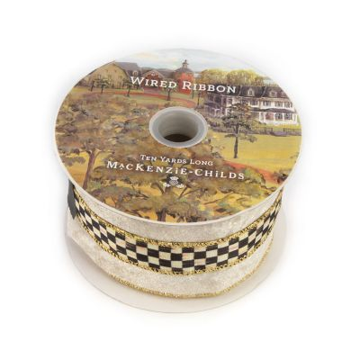 "Courtly Velvet 3"" Ribbon - Cream"