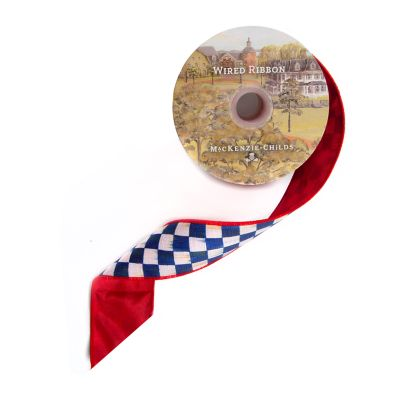 "Royal Check 2"" Ribbon - Red Back"