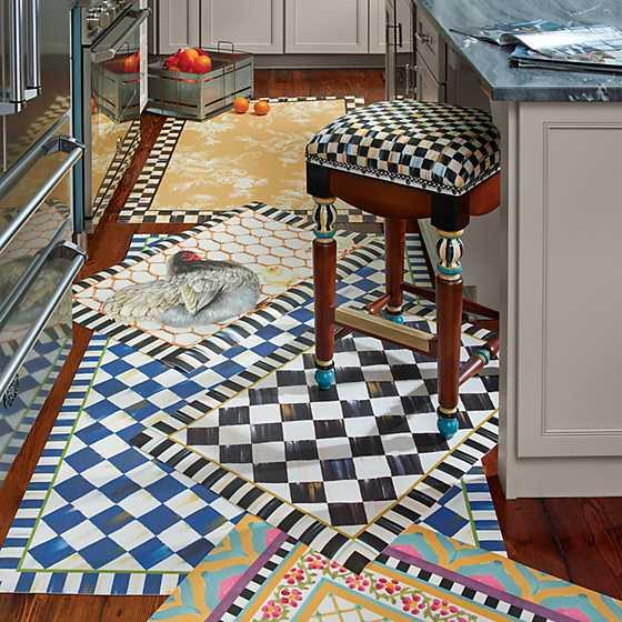 Mackenzie Childs Courtly Check Floor Mat 2 X 3