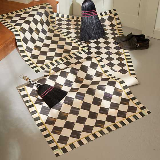 "Courtly Check Floor Mat - 2'6"" x 8' Runner image two"