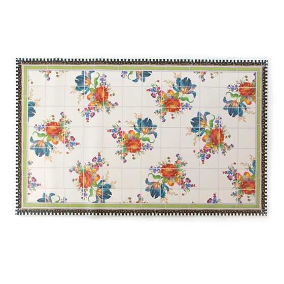 Flower Market Floor Mat - 3' x 5' image one