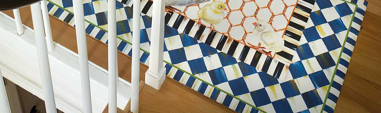 "Royal Check Floor Mat - 2'6"" x 8' Runner Banner Image"
