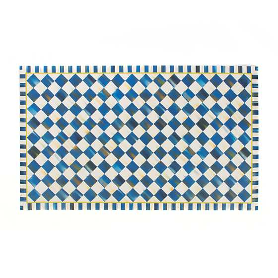 Royal Check Floor Mat - 3' x 5' image one